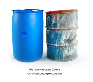 Металлическая и пластиковая бочка
