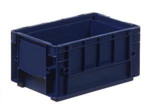 Ящик из пластика, с крышкой, используется для товаров техназначения, средних размеров