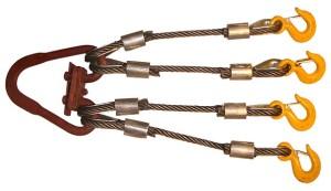 Четырехветвевой канатный строп