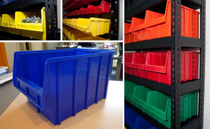 Пластиковые ящики для складского хранения