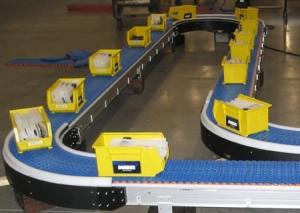 Конвейерная система для контейнеров
